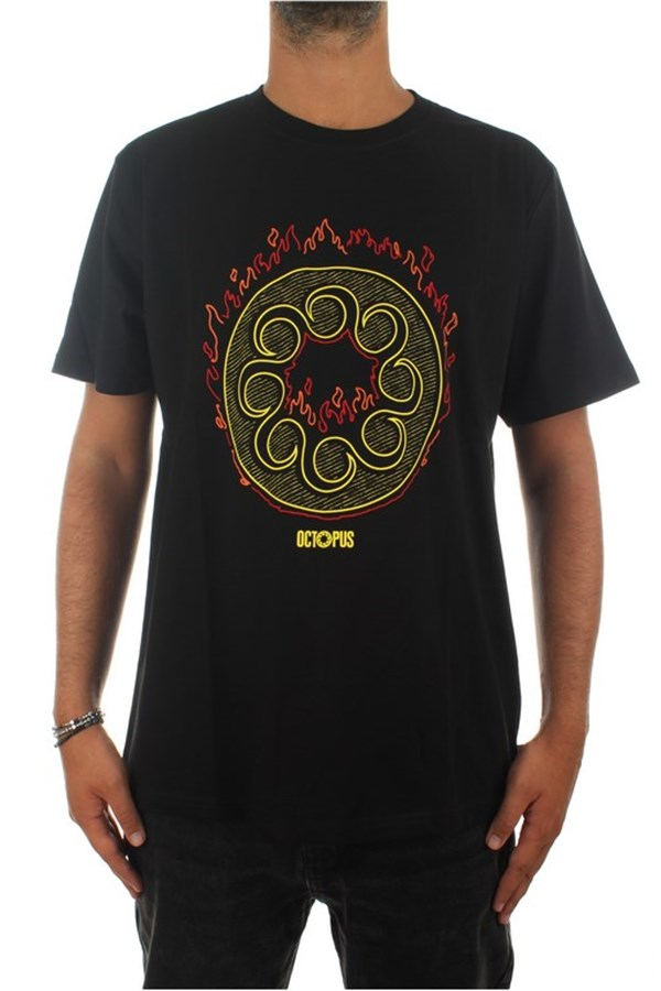 Octopus Short sleeve Black