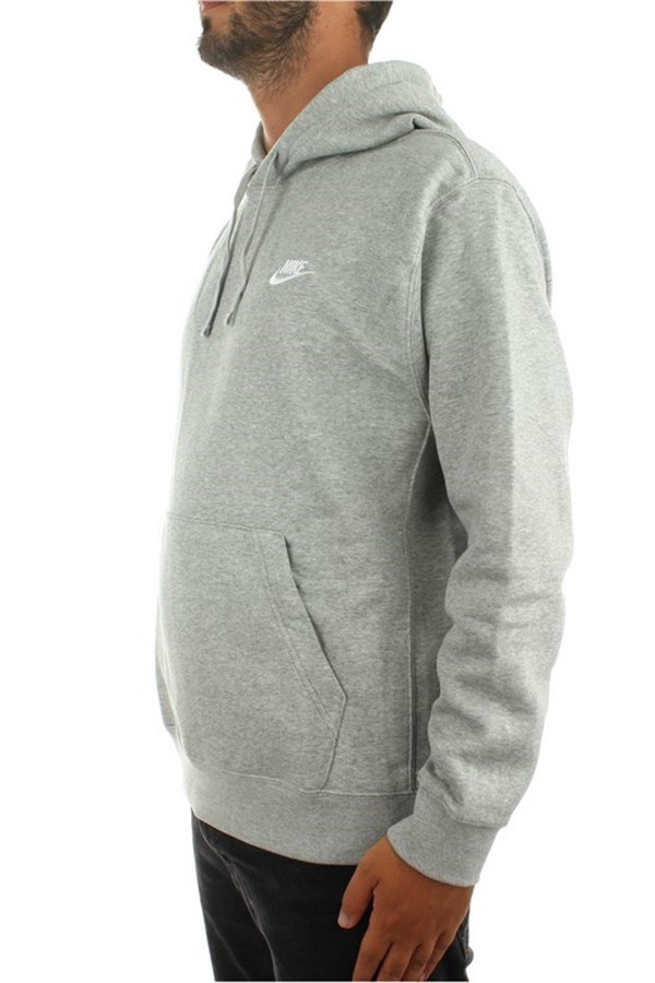 Nike Hooded Dk Gray Heather / matte Silver / white