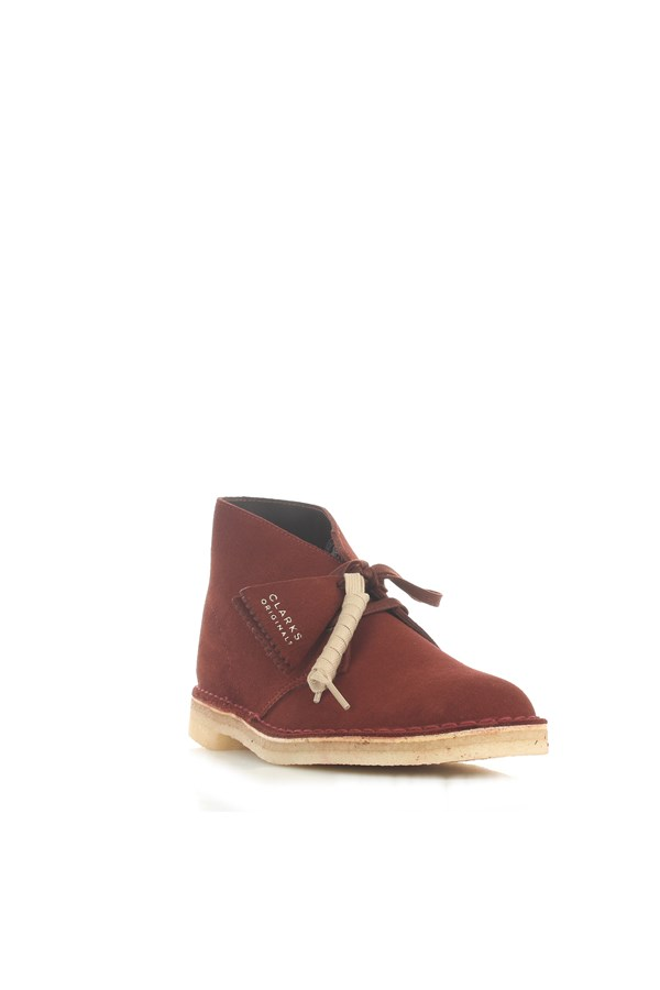 Clarks Ankle Rust Brown Suede