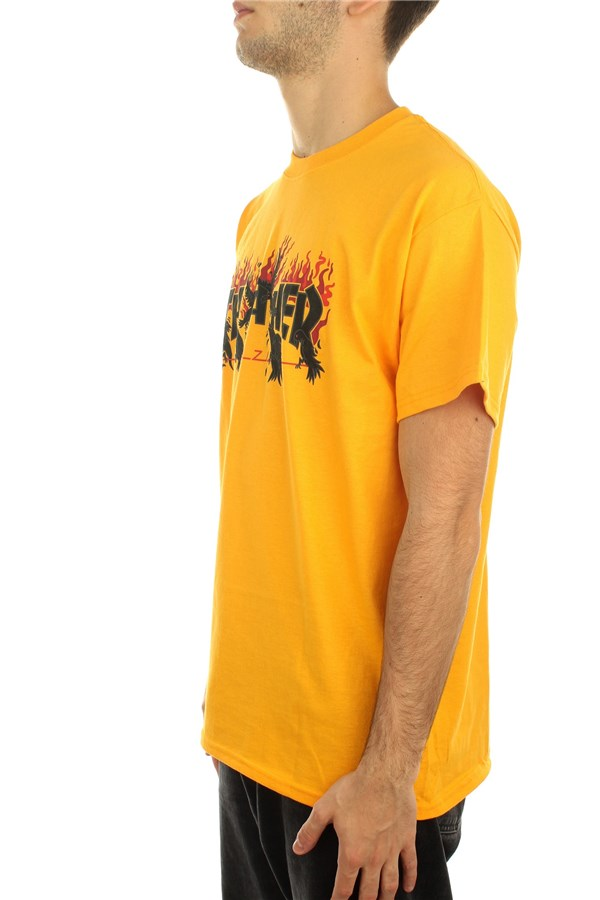 Thrasher Short sleeve Gold