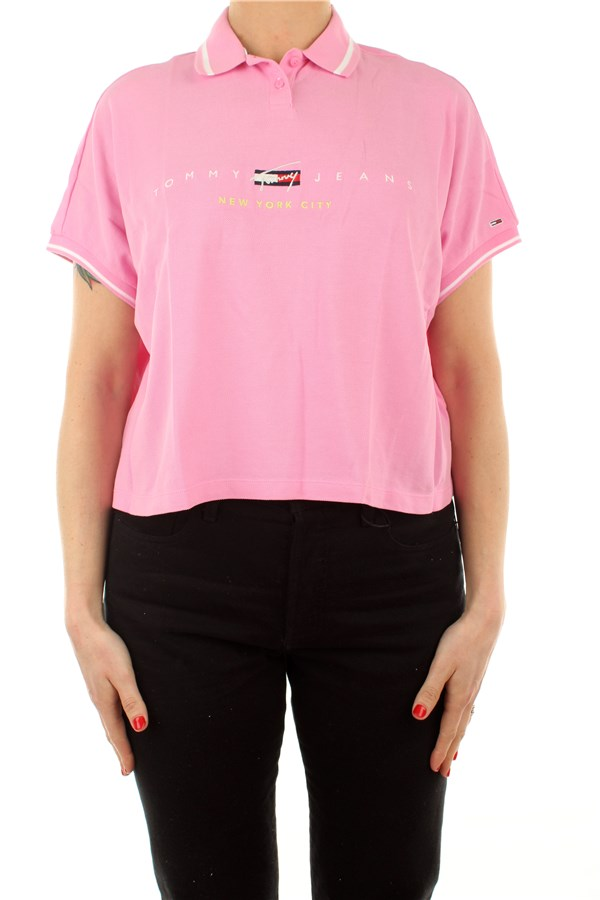 Tommy Hilfiger Polo shirt Short sleeves DW0DW09908TOU Pink Daisy