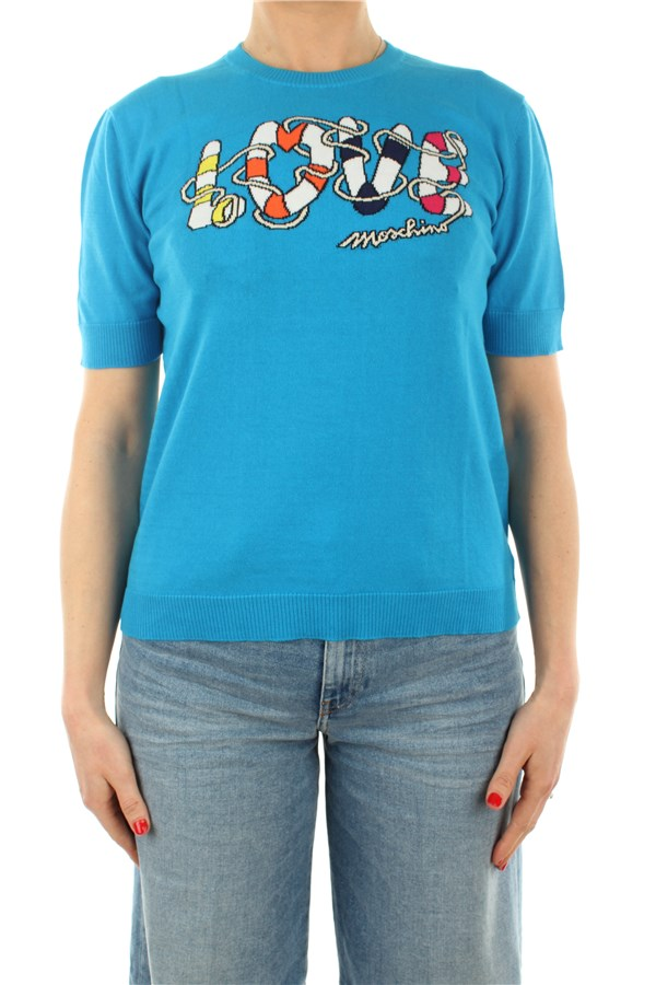 Love Moschino Short sleeve Azure