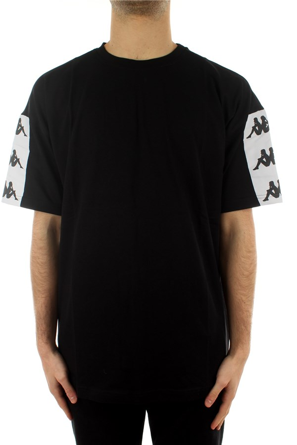 Kappa T-shirt Short sleeve 304TIJ0 Black - White