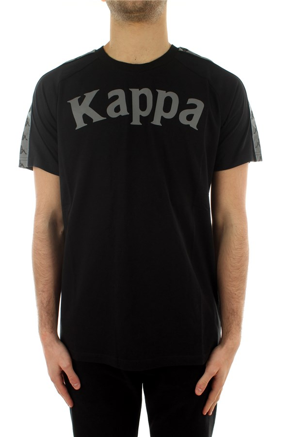 Kappa Short sleeve Black-silver