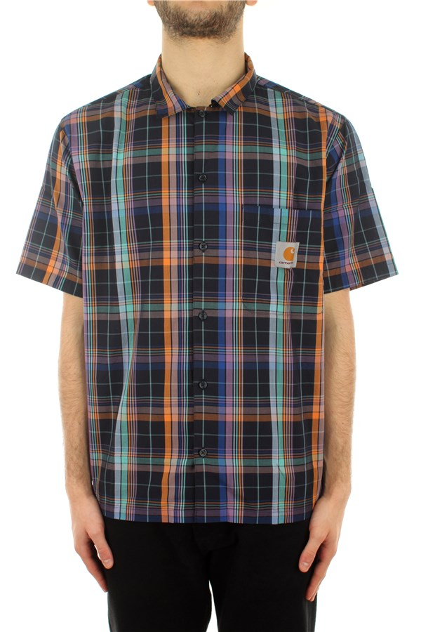 Carhartt Short sleeve shirts Vilay Check / Dark Navy
