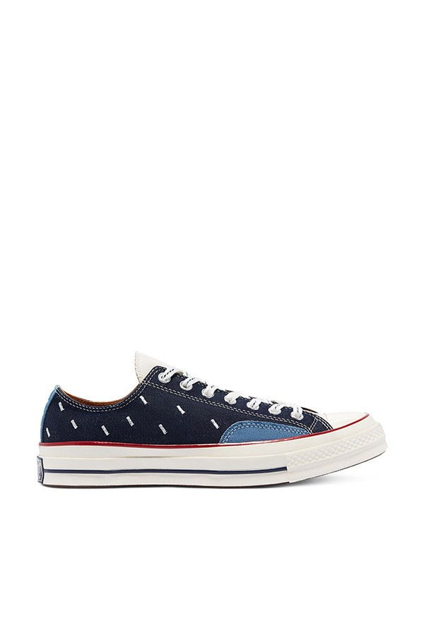 Converse low Midnight Navy / egret / garnet
