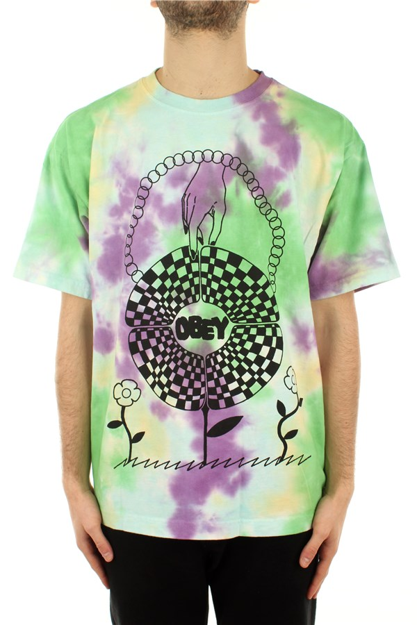 Obey Short sleeve Purple Nitro Blotch