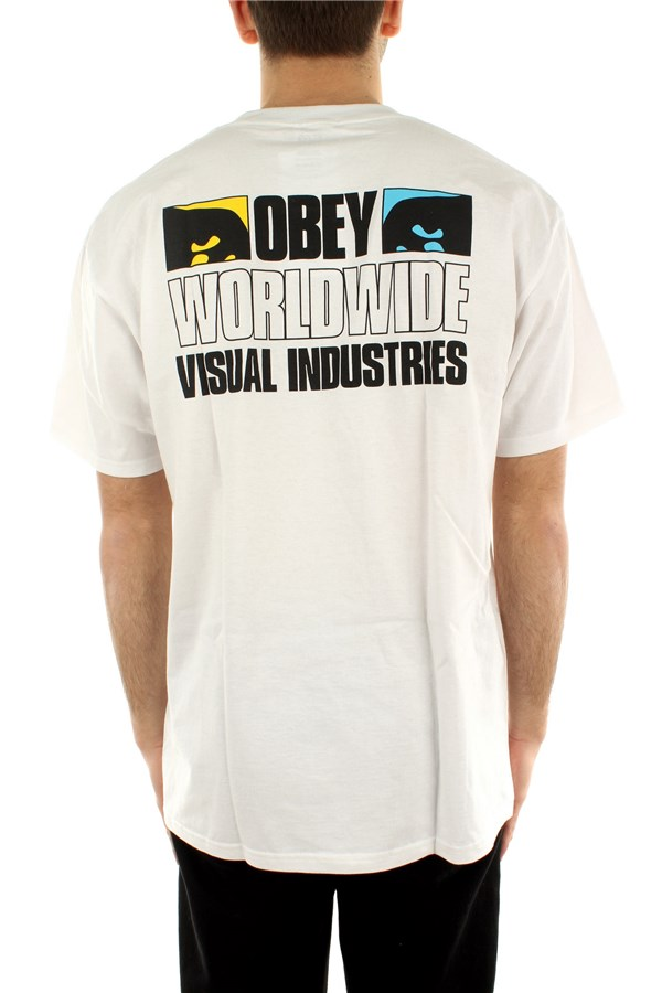 Obey T-shirt Short sleeve 165262599 White