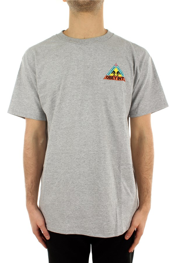 Obey Short sleeve Heather Gray