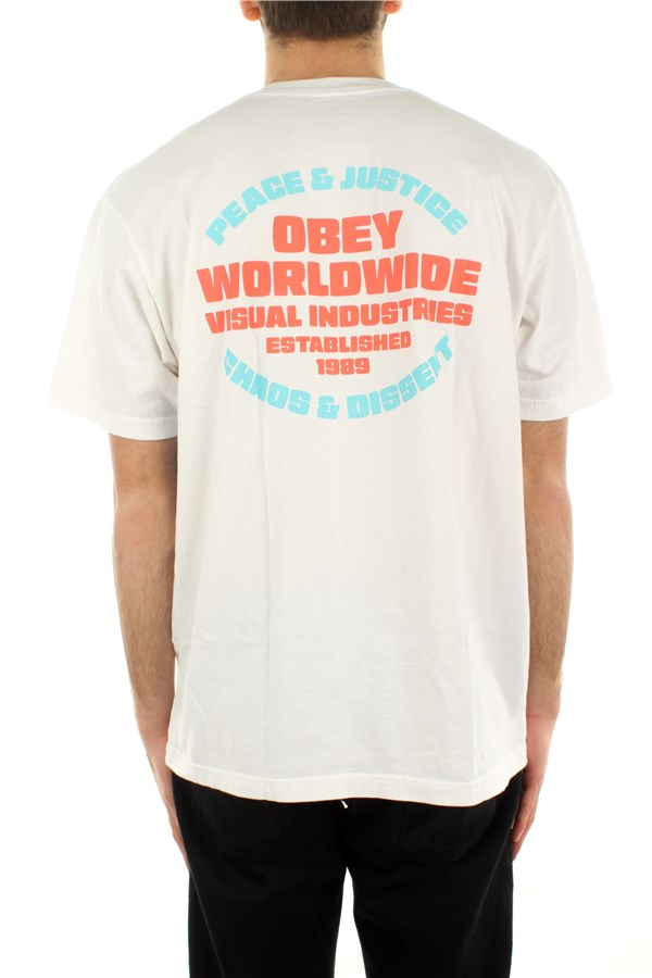 Obey Short sleeve White