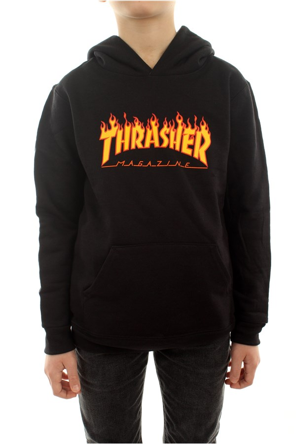 Thrasher Sweatshirts Hooded Children E35YTHRFLABLK 0