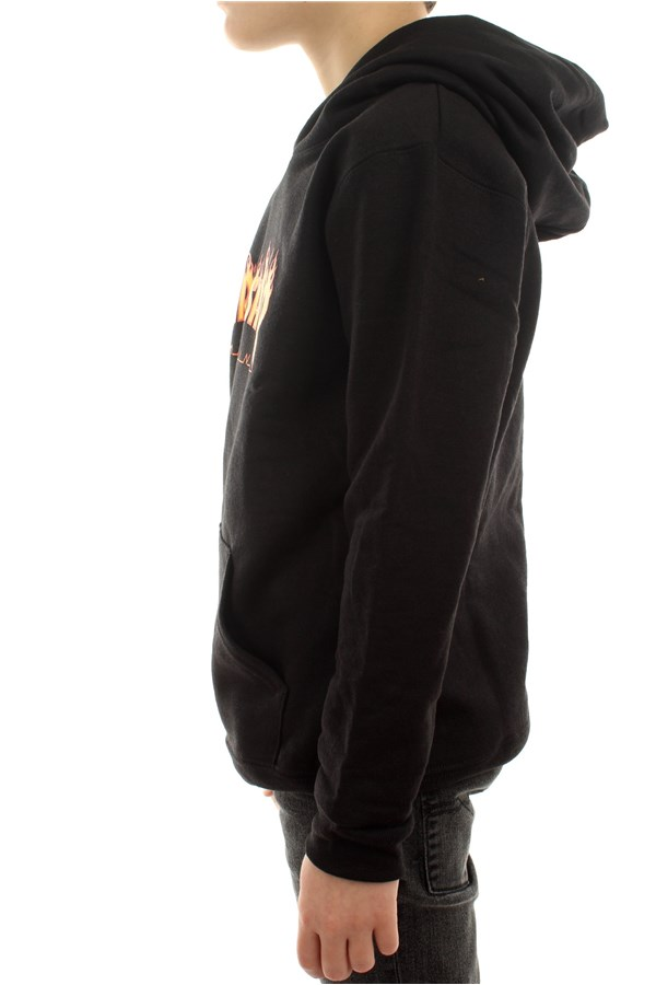Thrasher Sweatshirts Hooded Children E35YTHRFLABLK 1