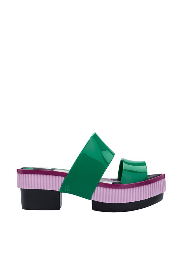 Melissa With Plateau Green / pink / black