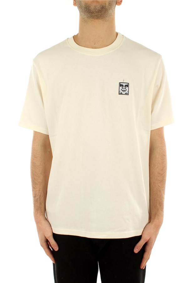 Obey T-shirt Short sleeve 131030111 Cream