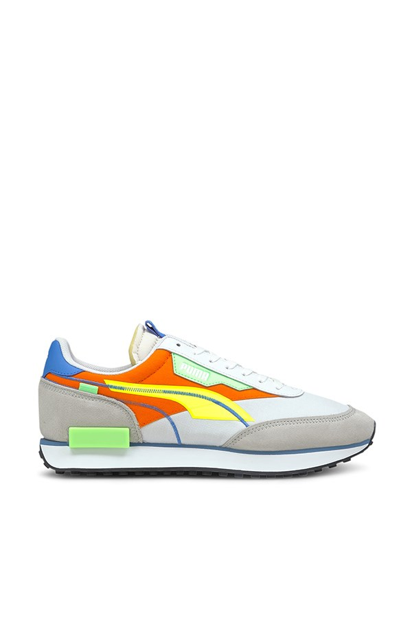 Puma low White-yellow Alert-carrot