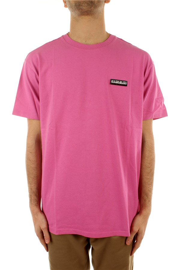Napapijri Short sleeve Pink Super