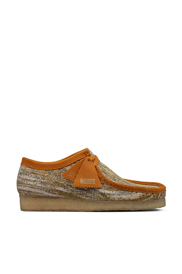 Clarks Loafers Sand Fabric