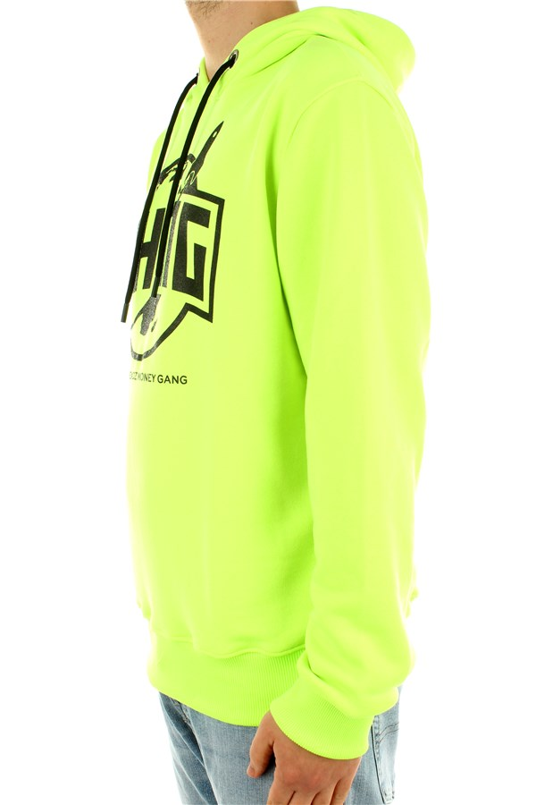 Bhmg Hooded Fluo yellow