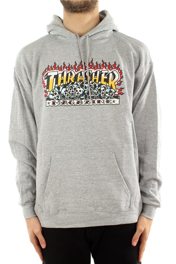 Thrasher Hooded Heather Gray