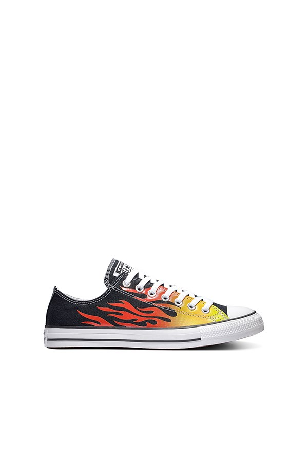 Converse low Black / enamel Red / fresh Yellow