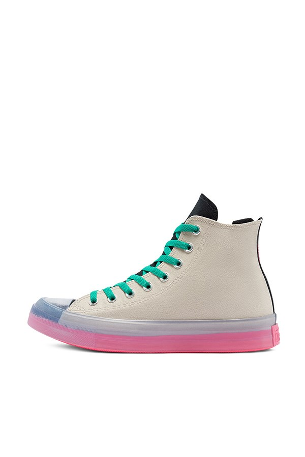 Converse high String / hyper Pink / black