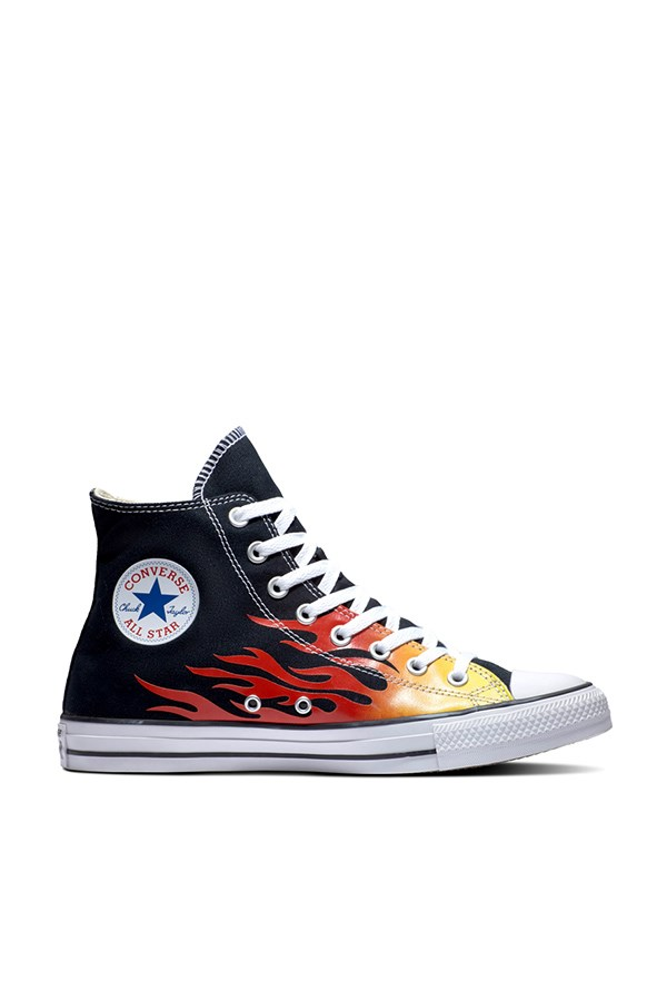Converse high Black / enamel Red / fresh Yellow