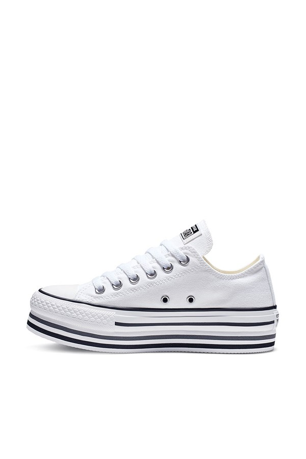 Converse With wedge White / black / thunder