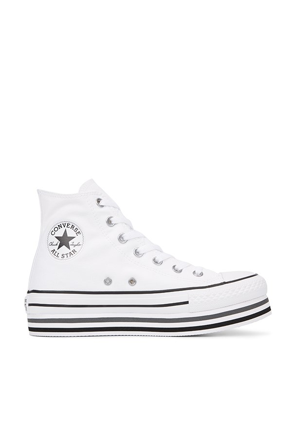 Converse high White / black / thunder